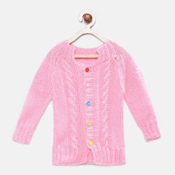 Baby Full Sleeves Sweater - Pink