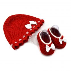 Baby Cap & Booties Set