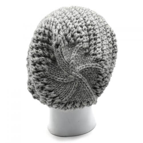 Men's Netted Beanie Cap – Light Grey