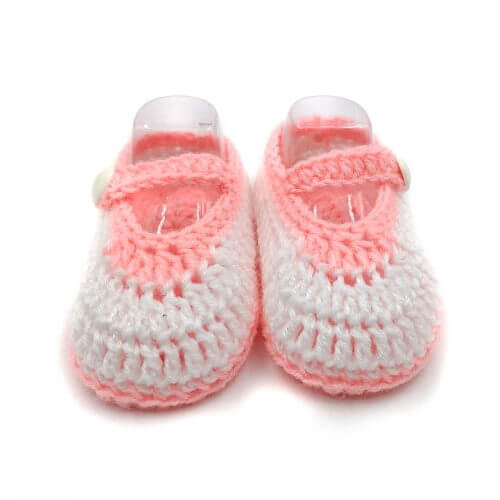 2 Pairs of Mary Janes Baby Shoes - White & Peach | Pink