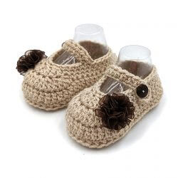 Mary Janes Baby Shoes - Beige