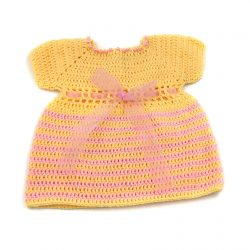 Baby Dress - Pink and Yellow