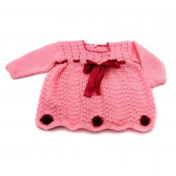 Baby Dress with Ribbons - Pink
