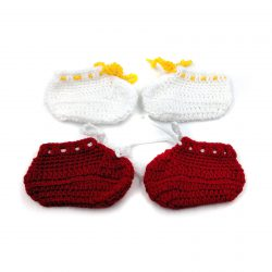 2 Pairs of Baby Shoes - White | Red
