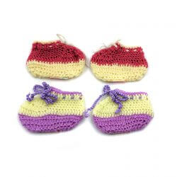 2 Pairs of Baby Shoes - Pink | Purple