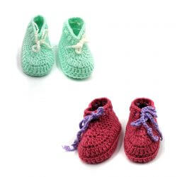 2 Pairs of Baby Shoes - Pink | Green