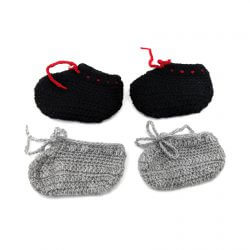 2 Pairs of Baby Shoes - Black | Grey