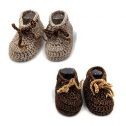 2 Pairs of Baby Shoes - Brown | Beige