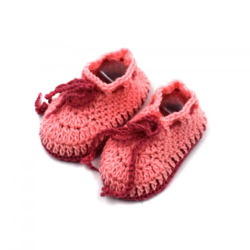 2 Pairs of Baby Shoes - Peach | Pink