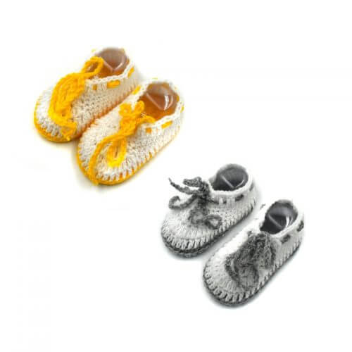 2 Pairs of Baby Shoes - Grey | Yellow