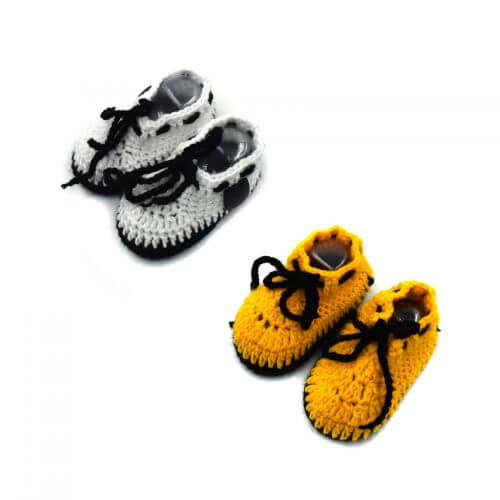 2 Pairs of Baby Shoes - White | Yellow