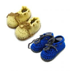 2 Pairs of Baby Shoes - Yellow | Blue