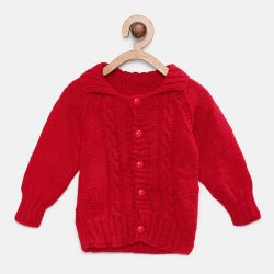 Full Sleeves Sweater - Red