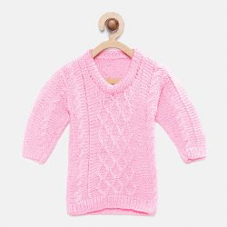 Full Sleeves Sweater - Pink