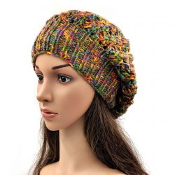Women's Slouchy Shroom Beanie Cap - Multi Color