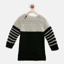 Full Sleeves Sweater - Grey and Black