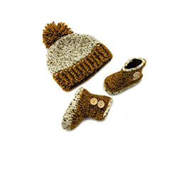 Baby Cap and Booties Set