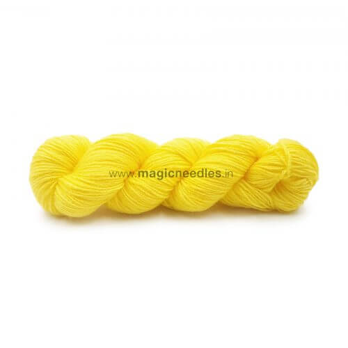 Ganga Cuddly 4 ply Acrylic Yarn - Yellow 63