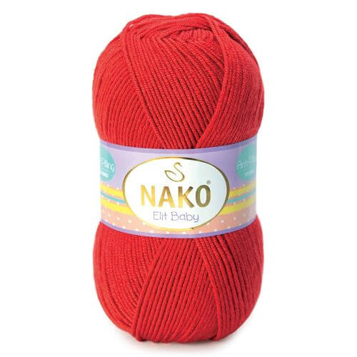 Nako Elit Baby Yarn - Red 207