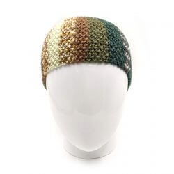 Men's Striped Headband - Multi Green