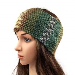 Women's Striped Headband - Multi Green