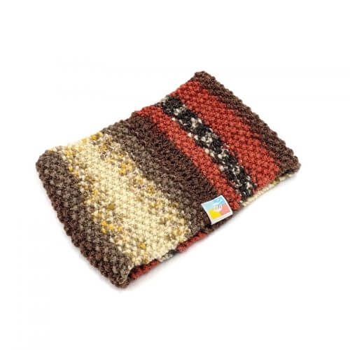 Striped Headband - Multi Red