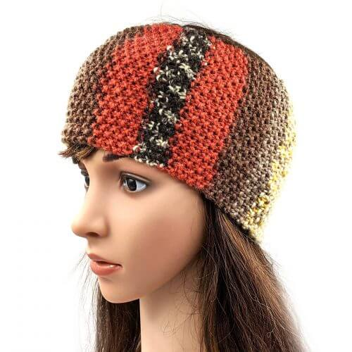 Women's Striped Headband - Multi Red