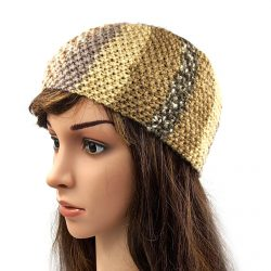 Women's Striped Headband - Multi Beige