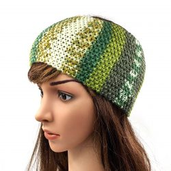 Women's Striped Headband - Multi Light Green