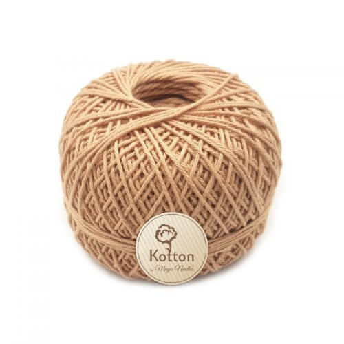Kotton 4 ply Cotton Yarn Ball - Brown 02 23Oct
