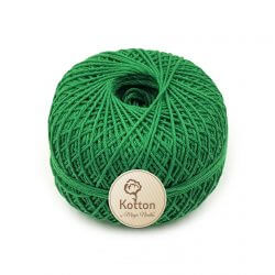 Kotton 4 ply Cotton Yarn Ball - Green 35