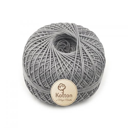 Kotton 4 ply Cotton Yarn Ball - Light Grey 12