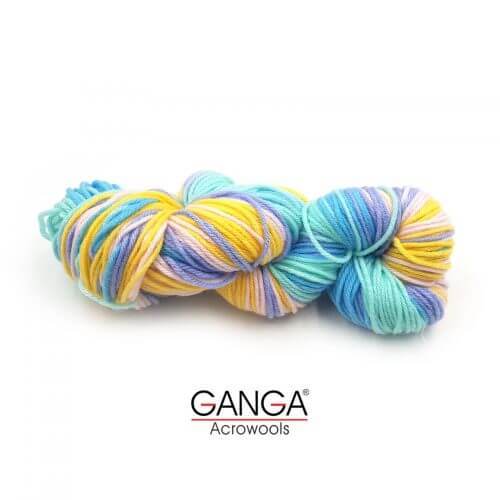 Ganga Alisha 4 ply Acrylic Yarn - Multi Color 815201