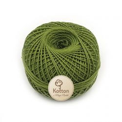 Kotton 4 ply Cotton Yarn Ball - Olive Green 03