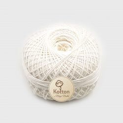 Kotton 4 ply Cotton Yarn Ball - White 01