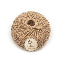 Kotton 4 ply Cotton Yarn Ball - Brown 02