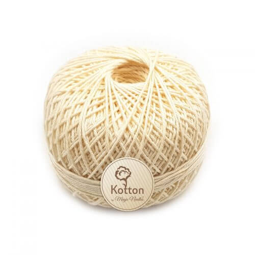 Kotton 4 ply Cotton Yarn Ball - Cream 16