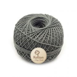 Kotton 4 ply Cotton Yarn Ball - Grey 13