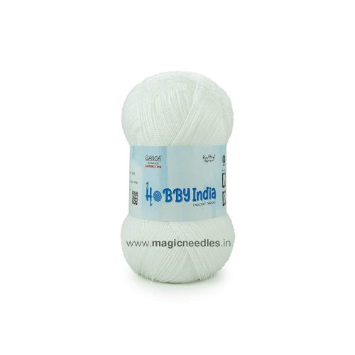 Ganga Hobby India Crochet Thread - White 10