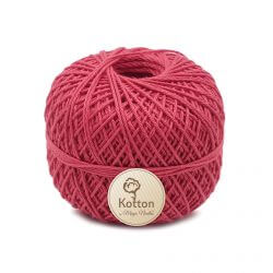 Kotton 4 ply Cotton Yarn Ball - Coral Red 27