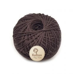 Kotton 4 ply Cotton Yarn Ball - Dark Brown 31