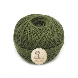 Kotton 4 ply Cotton Yarn Ball - Dark Olive Green 43