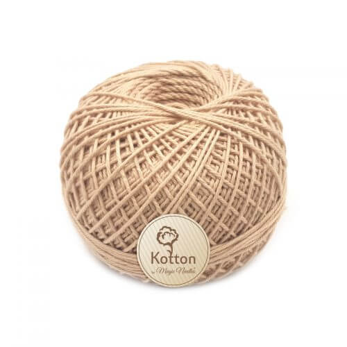 Kotton 4 ply Cotton Yarn Ball - Beige 15
