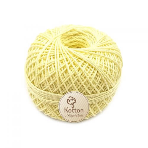 Kotton 4 ply Cotton Yarn – Lemon Yellow 20