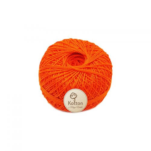 Kotton 3 ply Mercerised Cotton Yarn Ball - Dark Orange 26
