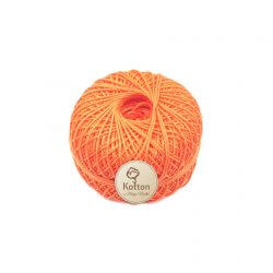 Kotton 3 ply Mercerised Cotton Yarn Ball - Coral Orange 28