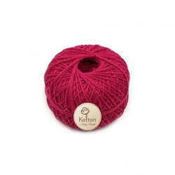 Kotton 3 ply Mercerised Cotton Yarn Ball - Dark Pink 23