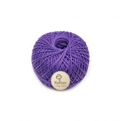 Kotton 3 ply Mercerised Cotton Yarn Ball - Dark Purple 25