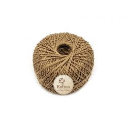 Kotton 3 ply Mercerised Cotton Yarn Ball - Khaki 20