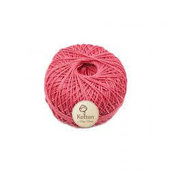 Kotton 3 ply Mercerised Cotton Yarn Ball - Pink 24